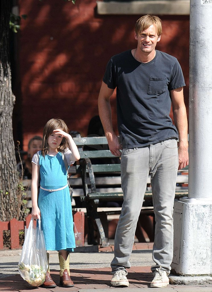 Alexander Skarsgard teamed up with a young actor.
