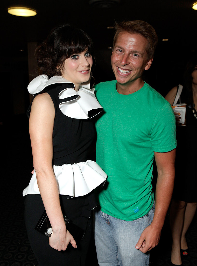 Zooey Deschanel and Jack McBrayer