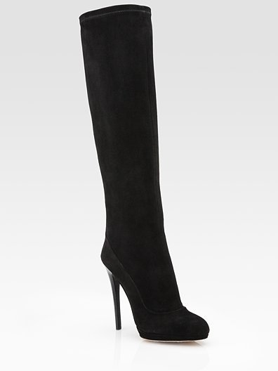 Ferruccia Suede Knee-High Boots ($600)
