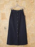 We love the on-trend midi-length and diminutive buttons.  Free People Vintage Denim Skirt ($98)