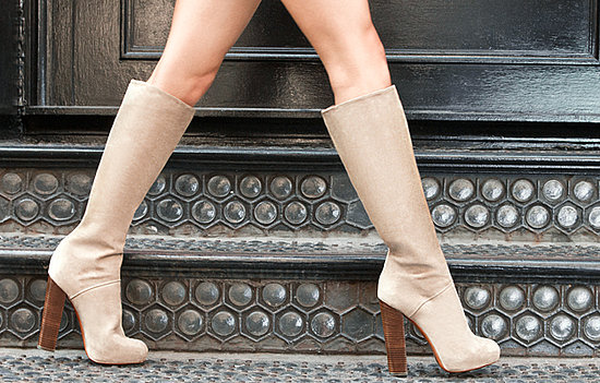 Beige Stacked Boot