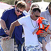 Elton John With David Furnish and Son Zachary in St. Tropez