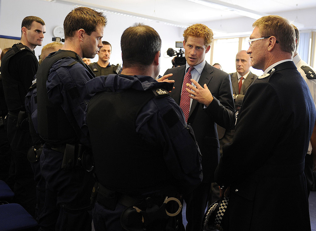 Prince Harry is hot in his suit.