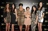Kim Kardashian, Khloe Kardashian, Kourtney Kardashian, Kris Jenner, Kendall Jenner, and Kylie Jenner celebrate the Kardashian Collection.