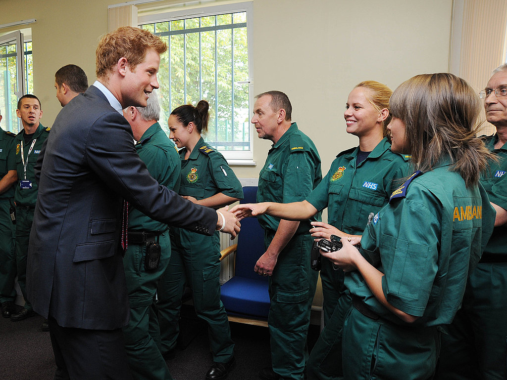 Prince Harry charms the ladies —even emergency workers!
