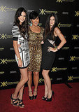 Kris Jenner with daughters Kendall Jenner and Kylie Jenner.