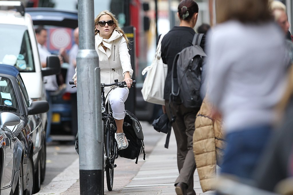 Kate Hudson and Matthew Bellamy Explore London's Primrose Hill on Bicycles