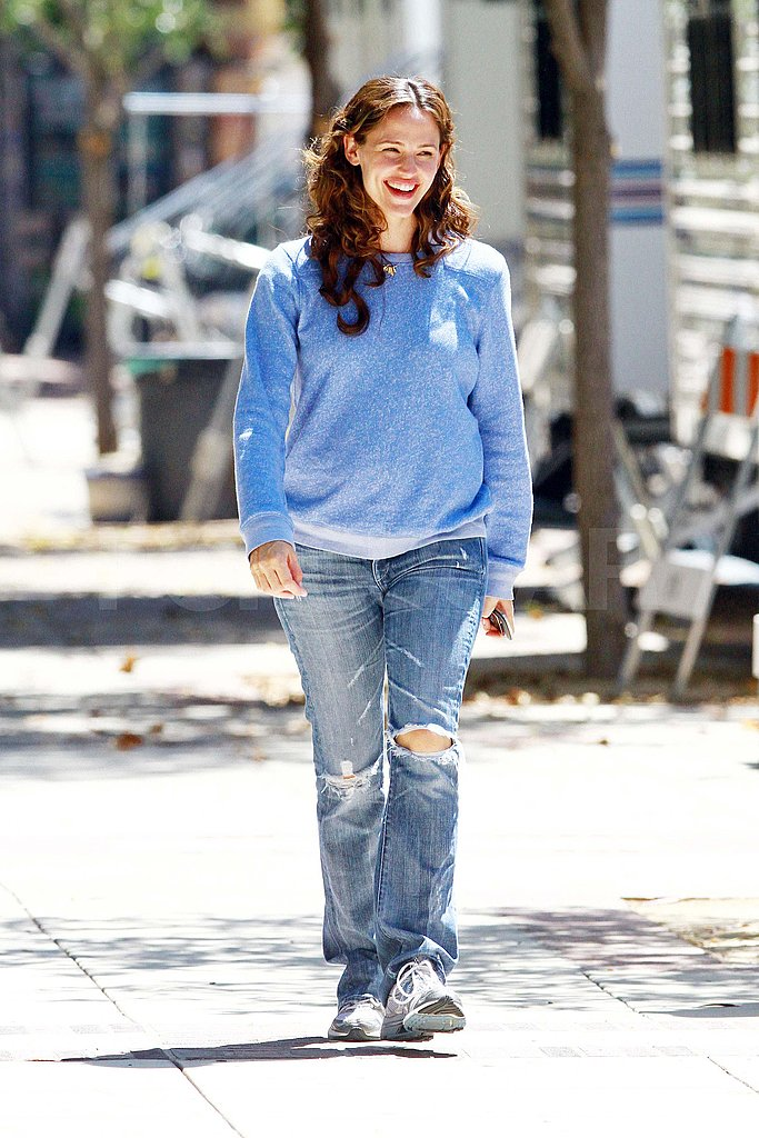 Jennifer Garner on the set of The Odd Life of Timothy Green.