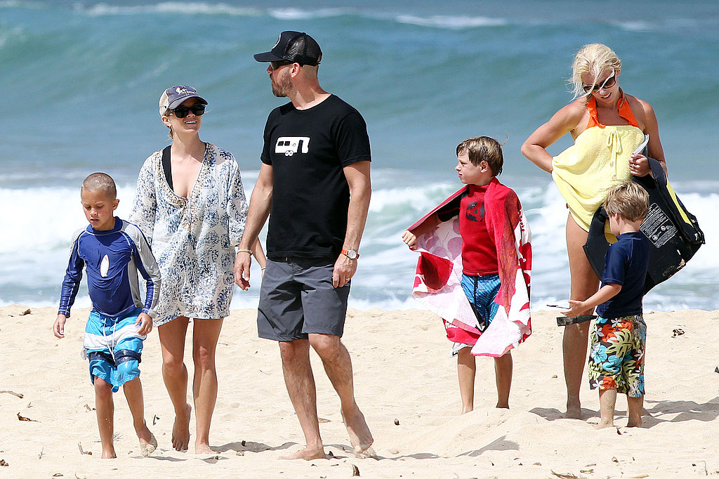 Reese Witherspoon Shows Skin and Shares PDA With Jim During a Family Beach Day