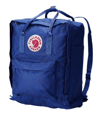A tried and true favorite in a striking cobalt hue.  Fjällräven Kanken Backpack ($65)