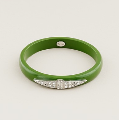 Lulu Frost for J.Crew Thin Deco Bangle in Green ($45)