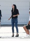 Courteney Cox got a little silly on set.