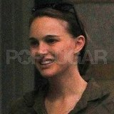 New mom Natalie Portman looks happy.