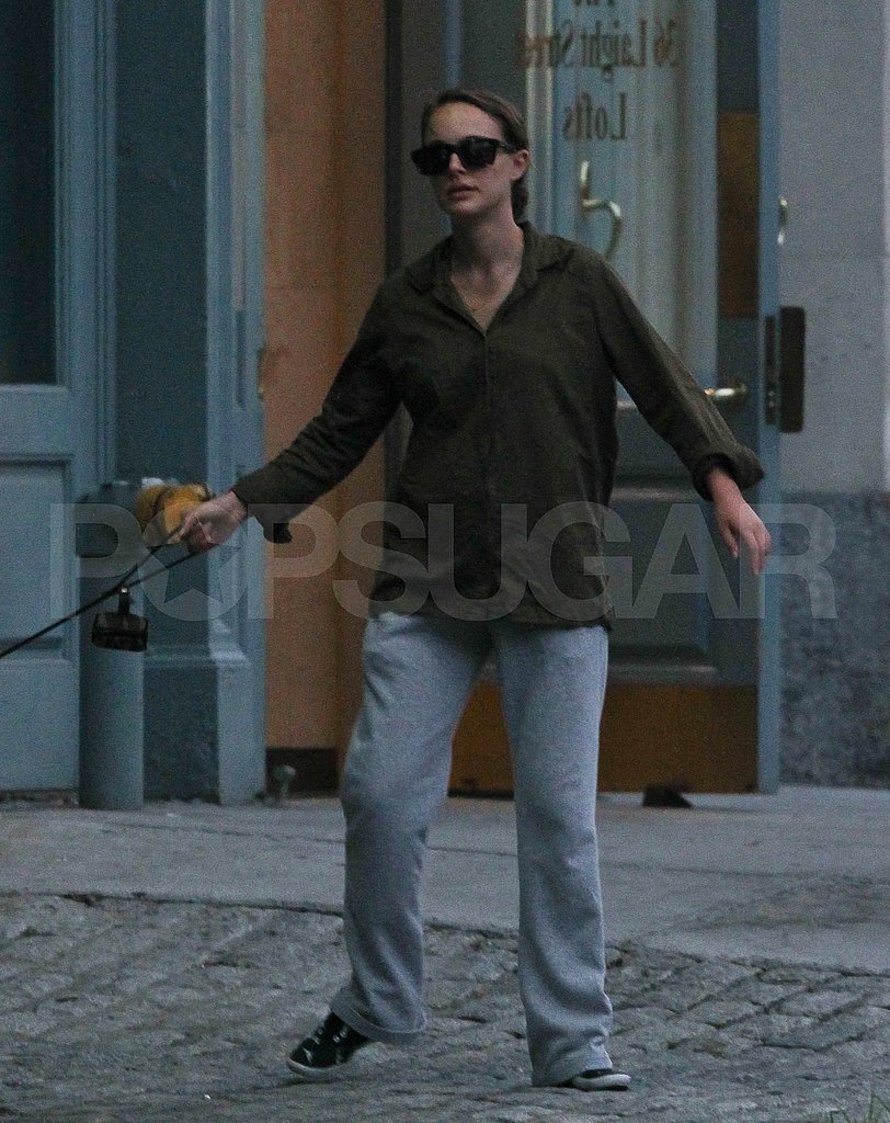 New mom Natalie Portman steps out solo.