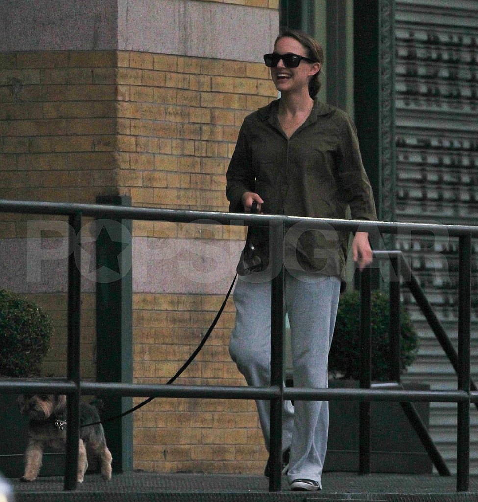 First pictures of new mom Natalie Portman in NYC.