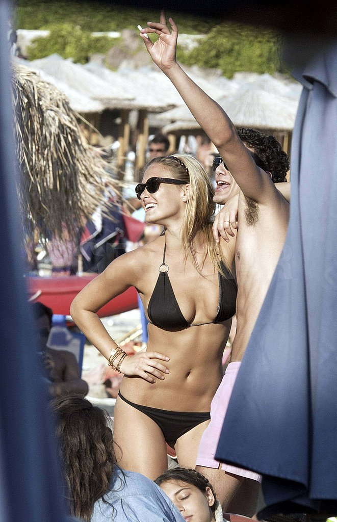 Bar Refaeli in a bikini in Greece.