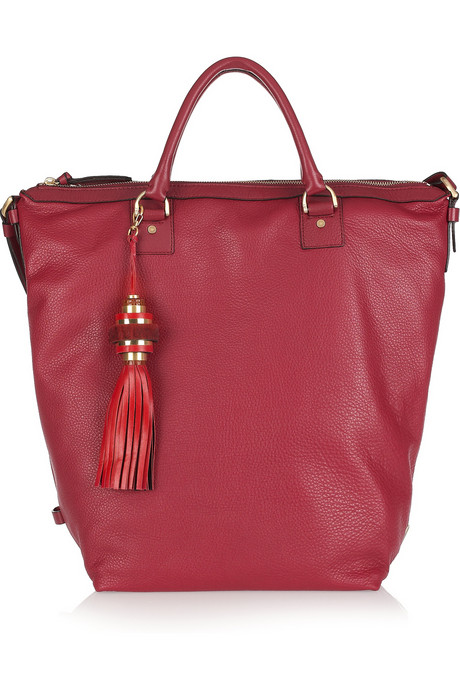 Diane von Furstenberg Drew Textured-Leather Bucket Tote ($545)