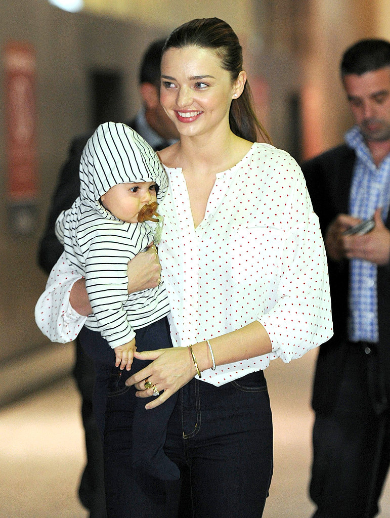 Miranda and Flynn walked through Melbourne's terminal.