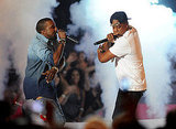 Jay-Z and Kanye West at the 2011 MTV VMAs.