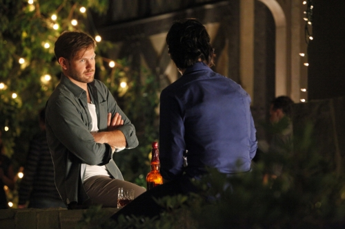 Matt Davis as Alaric and Ian Somerhalder as Damon on The Vampire Diaries.  Photo courtesy of The CW