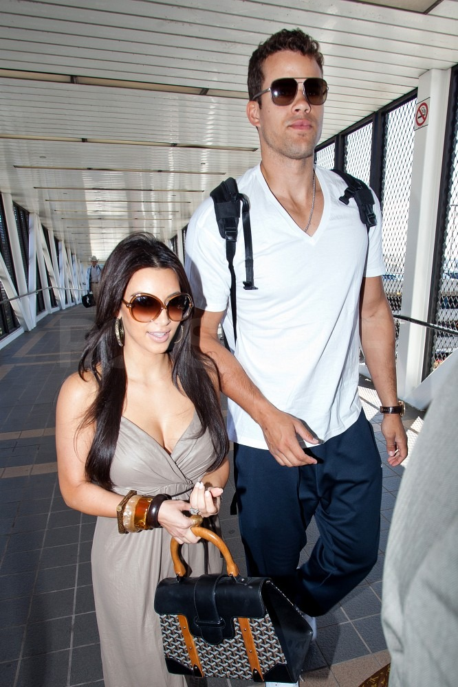 Kim Kardashian and Kris Humphries flew out of LA.