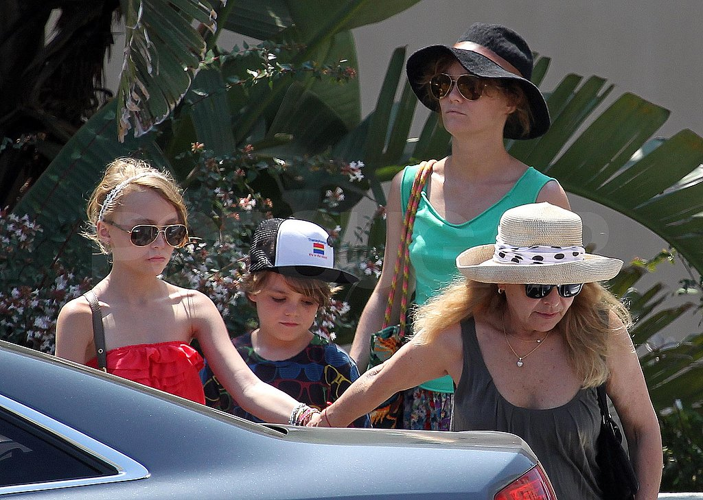 Lily-Rose and Jack Depp hung out with Vanessa Paradis in the South of France.
