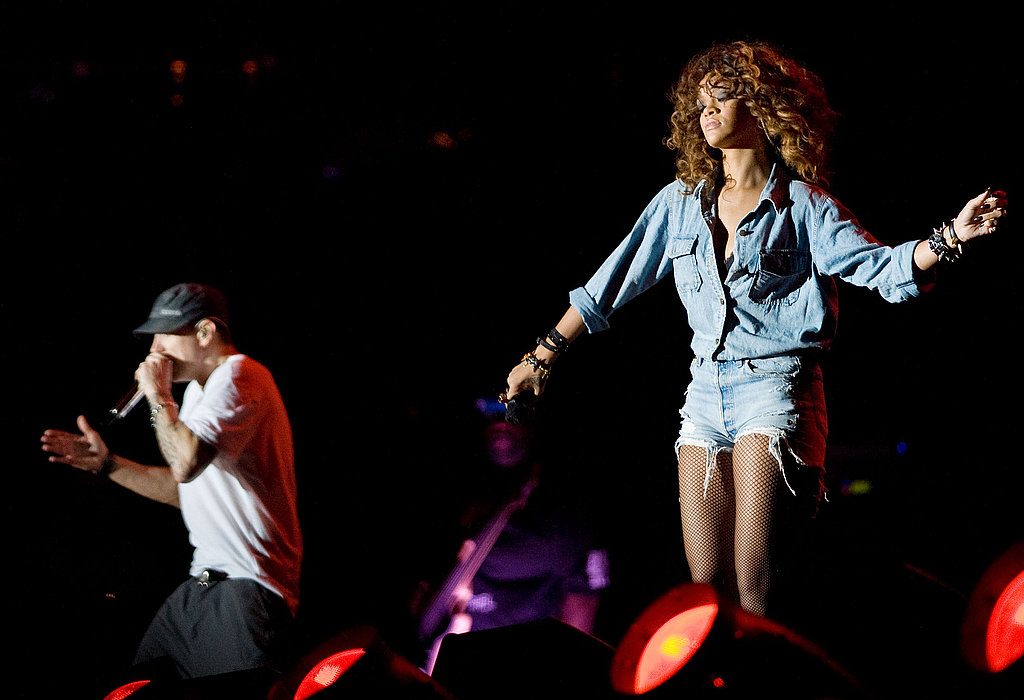 Rihanna joined Eminem on stage for a duet.