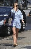 Natalie Portman in NYC after giving birth.