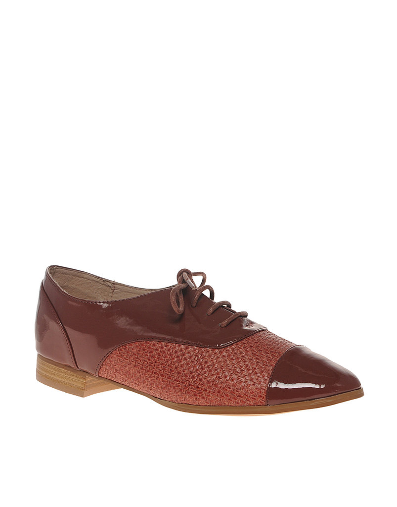 ASOS Mingle Lace-Up Cap-Toe Flat Shoe ($52)