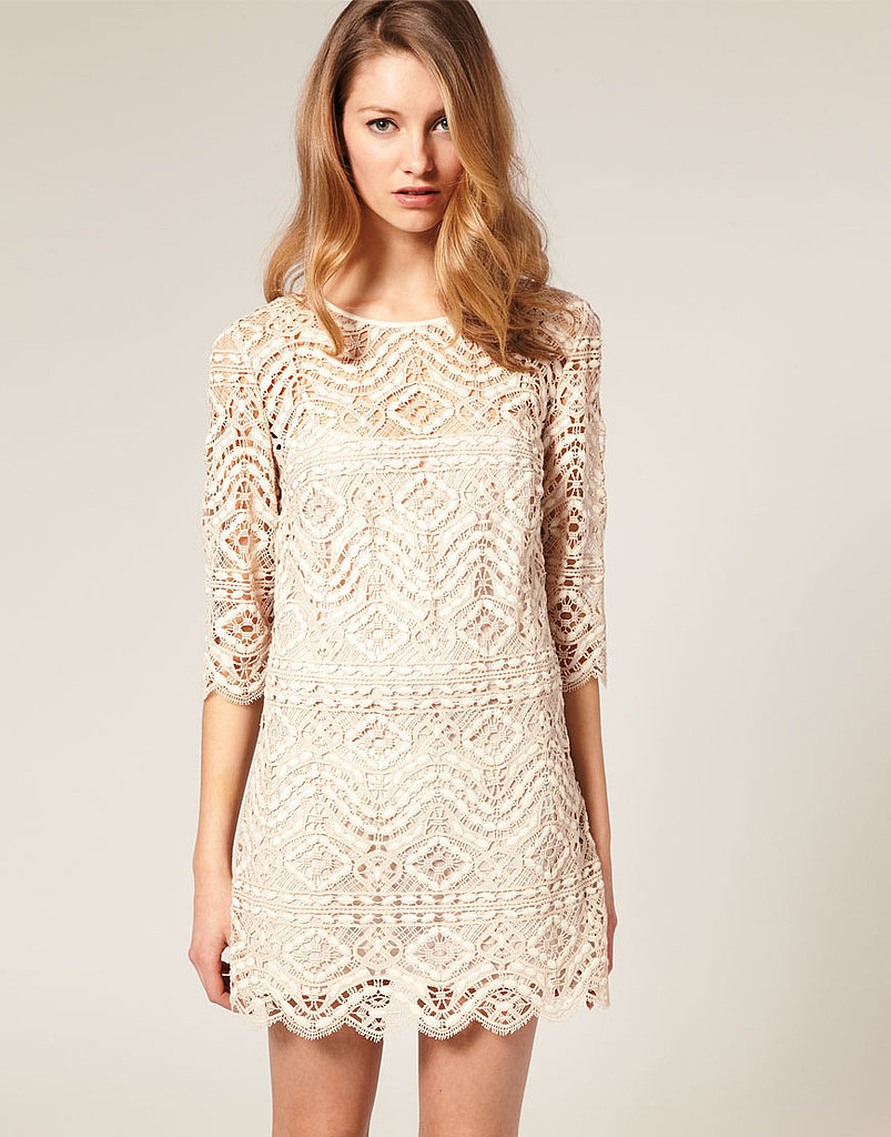 This sheath is both delicate and modern, and easy to style up or down. Asos Salon Shift Dress ($275)