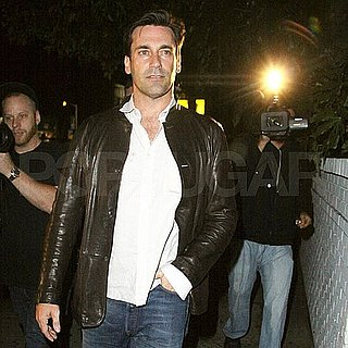 Jon Hamm at Chateau Marmont in a Leather Jacket Pictures