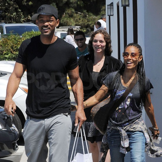 Will Smith and Jada Pinkett-Smith were in high spirits leaving the Malibu Country Mart outside LA today.