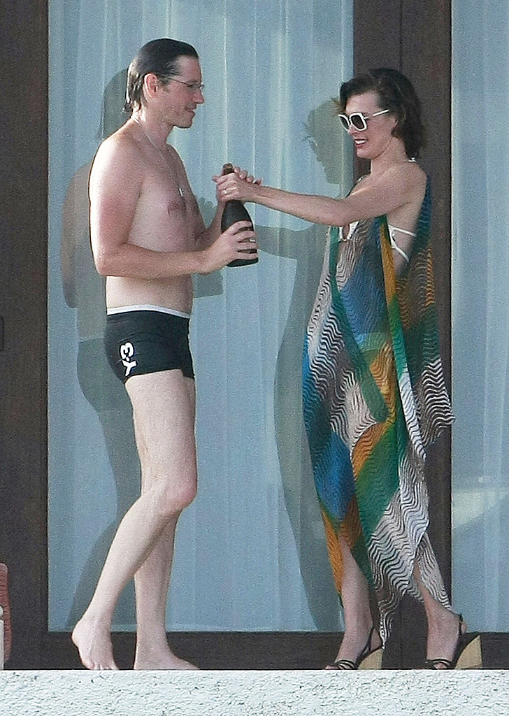 Paul W.S. Anderson and Milla Jovovich toasted to their anniversary.