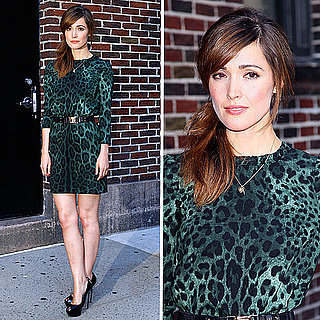 Rose Byrne Wears Dolce and Gabbana Leopard Print Dress 2011-08-24 09:43:48