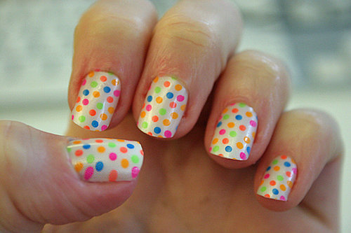 Polka-Dot Nail Art