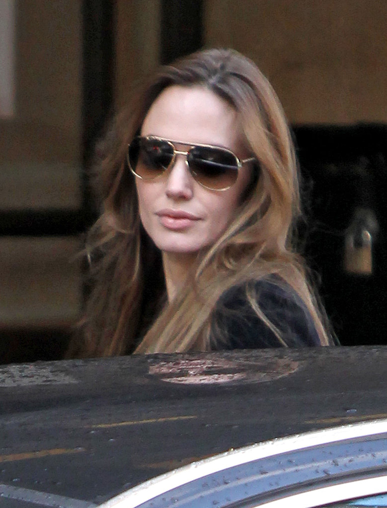 Angelina Jolie in London.