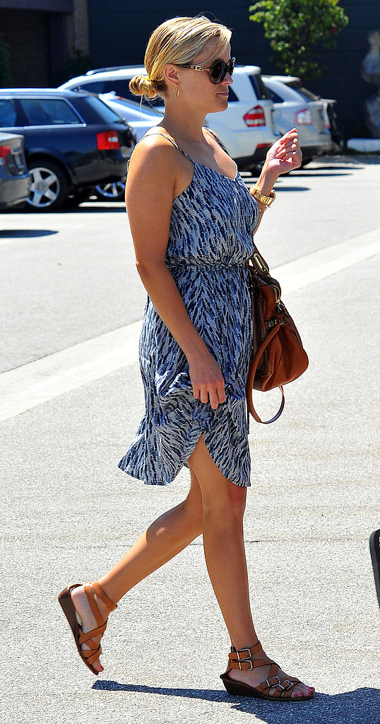 Reese Witherspoon wearing a dress in LA.