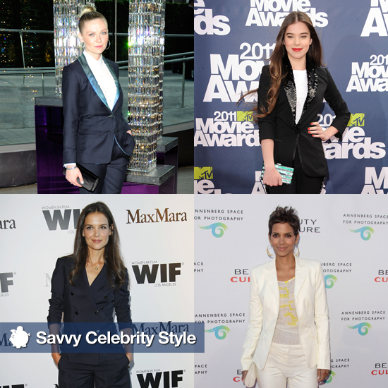 Celebrity Women Wearing Blazers and Suits