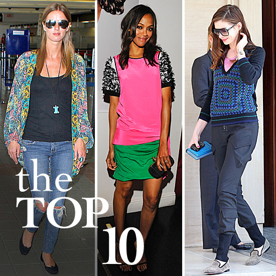 Fab's Top 10 Celebrity Looks of the Week — Zoe, Anne, Nicky, and More!