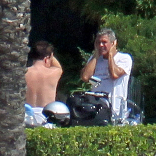Shirtless Bono and George Clooney in Lake Como Pictures