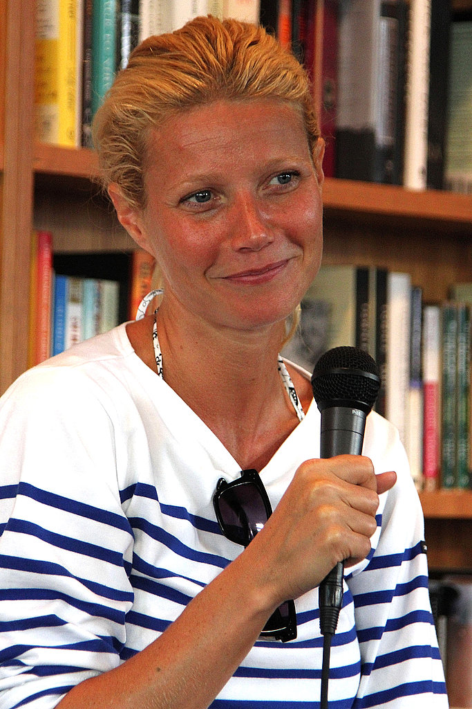 Gwyneth modeled a bronze glow.