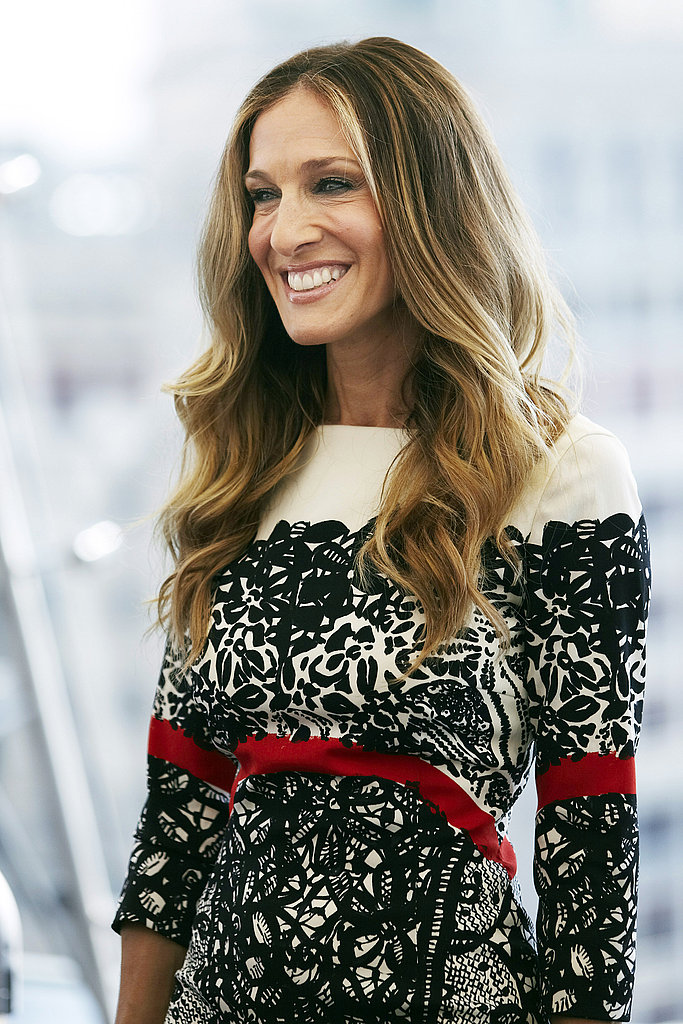 Sarah Jessica Parker at a Moscow photo call.