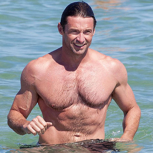 Hugh Jackman Shirtless Vacationing in St. Tropez Pictures