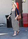 Pregnant January Jones in LA.