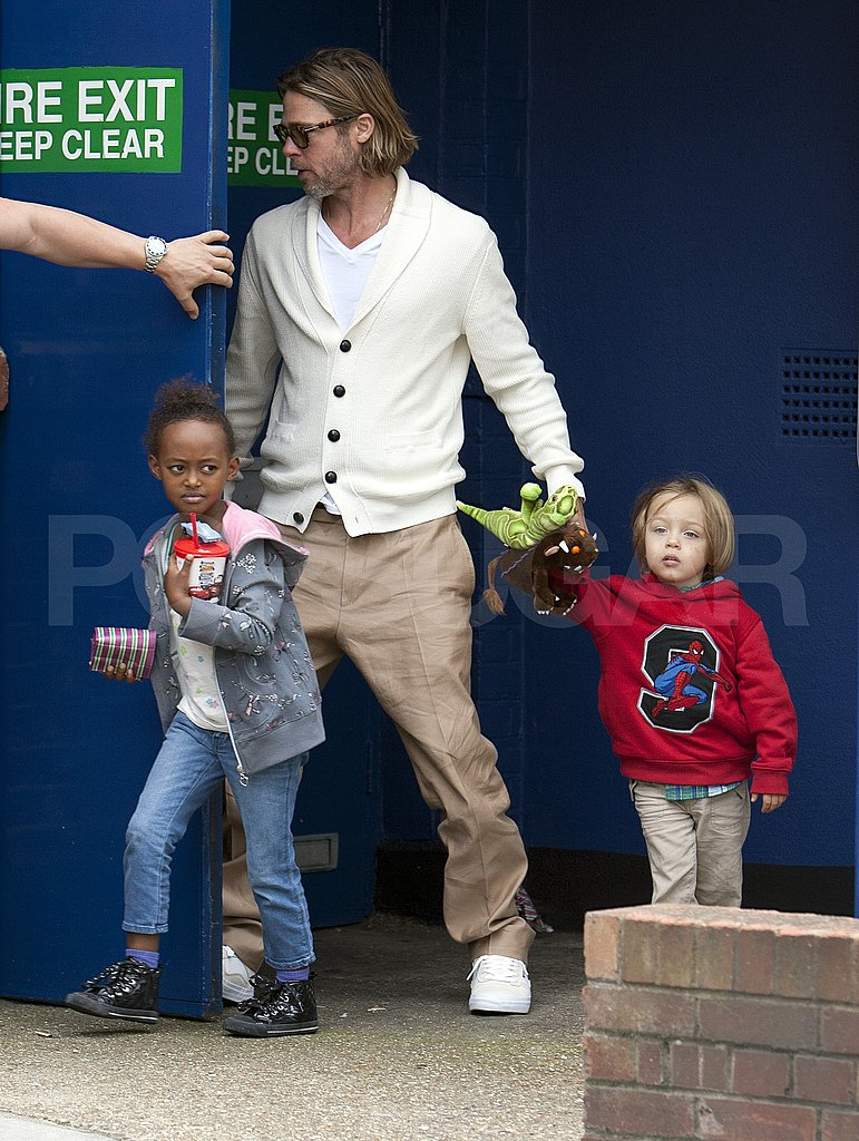 Brad Pitt with his kids.