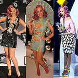 Katy Perry Outfits at MTV VMAs 2011: See Her Versace, Tom Ford, Christian Dior and Furne One Outfits!