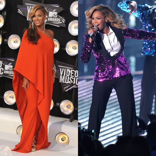 Pregnant Beyonce's Dress at VMAs 2011: See Her Lanvin Shift and Dolce & Gabbana Sequin Menswear Look