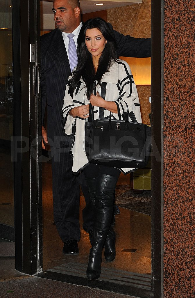 Kim Kardashian leaves hotel in NYC.