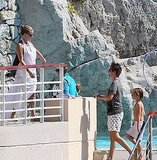 Kate Hudson and Matt Bellamy with Ryder Robinson in Antibes.