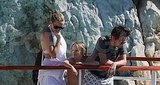 Kate Hudson, Ryder Robinson, and Matt Bellamy in Antibes.
